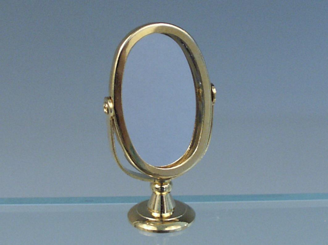 Miroir sur pied ovale en laiton - Miroir ovale sur pied ...