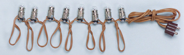 GUIRLANDE 3,5V 8 LAMPES BLANCHES
