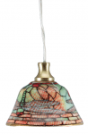 LAMPE 3,5V SUSPENSION PORCELAINE A MOTIFS