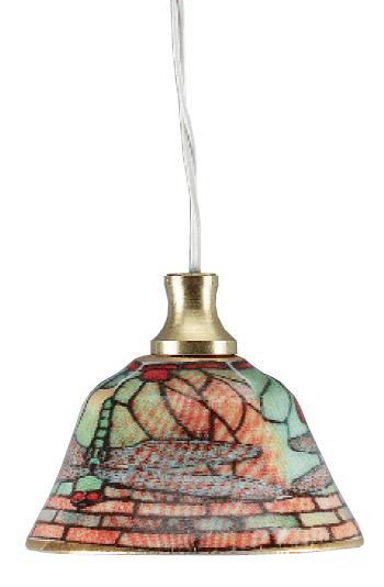 LAMPE 3,5V SUSPENSION PORCELAINE A MOTIFS