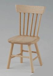 1 chaise barreaux bois naturel. Black Bedroom Furniture Sets. Home Design Ideas