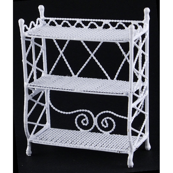 petite etagere metal couleur blanche. Black Bedroom Furniture Sets. Home Design Ideas