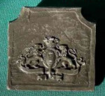 PLAQUE DE CHEMINEE LIONS
