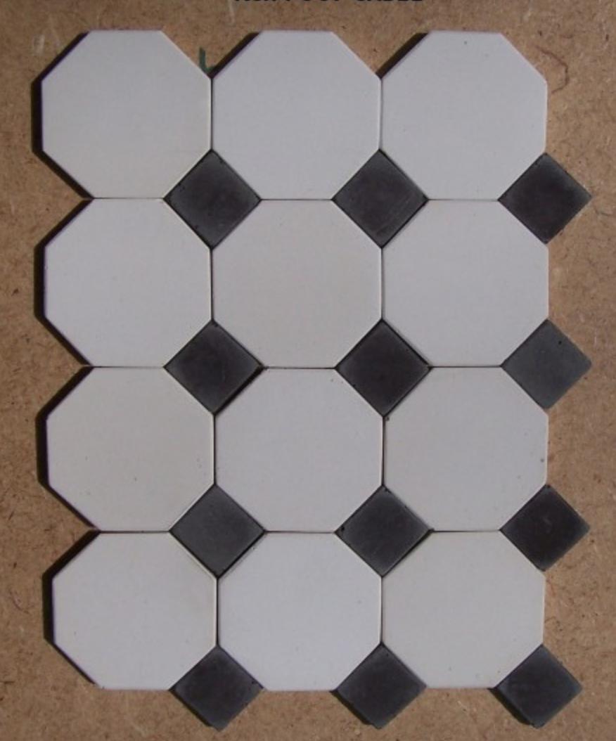carrelage octogonal blanc. Black Bedroom Furniture Sets. Home Design Ideas