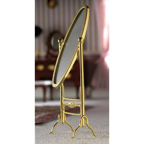 Miroir ovale dore sur pied - Miroir ovale sur pied ...