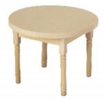 PETITE TABLE RONDE BOIS BRUT
