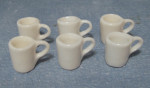 LOT DE 6 MUGS BLANCS