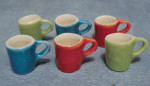 LOT DE 6 MUGS COLORES