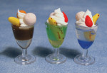 LOT DE 3 GLACES / SUNDAE