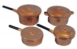 LOT 4 CASSEROLES CUIVRE