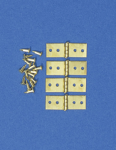 LOT DE 4 CHARNIERES EN METAL (1,9x0,5cm)