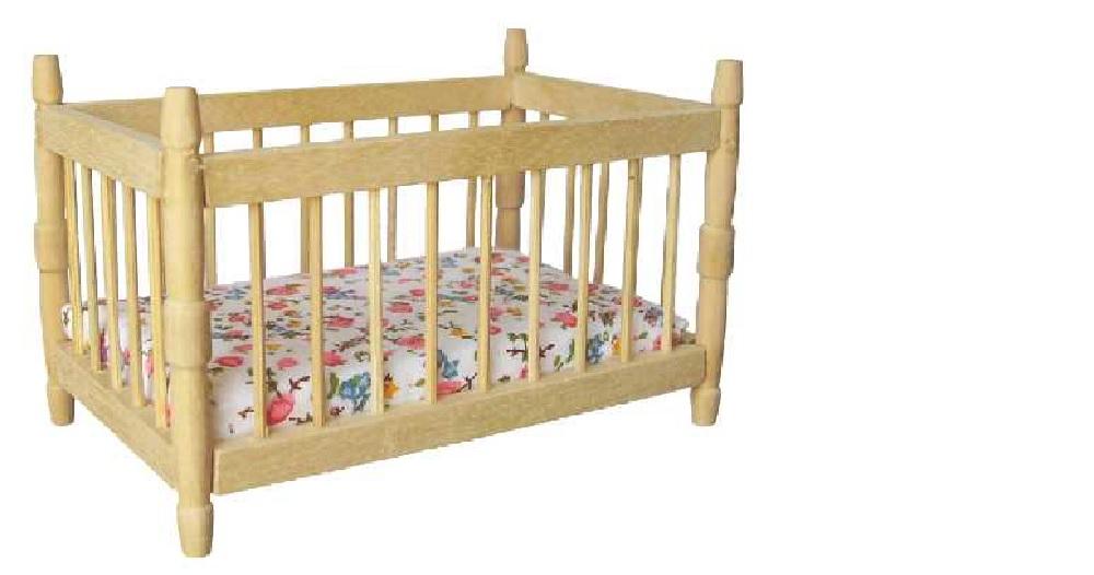 lit barreaux bois naturel avec matelas. Black Bedroom Furniture Sets. Home Design Ideas