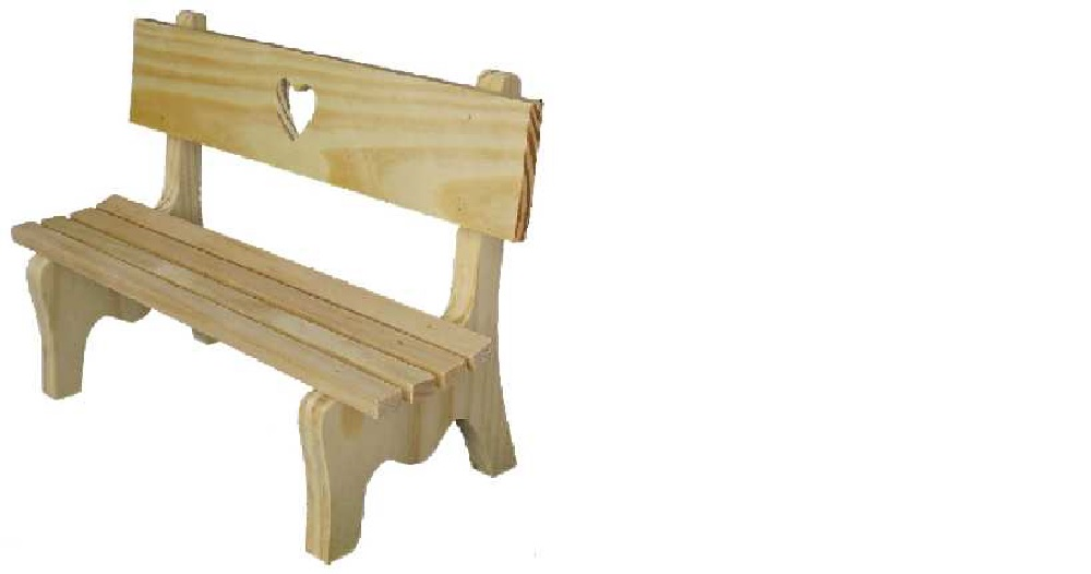 BANC EN BOIS GRAND MODELE BOIS NATUREL