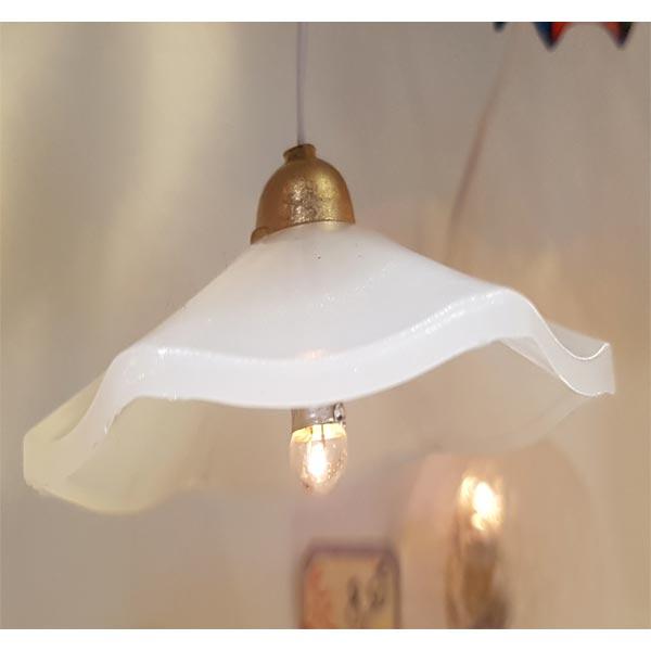 LAMPE SUSPENSION EFFET VERRE DEPOLI