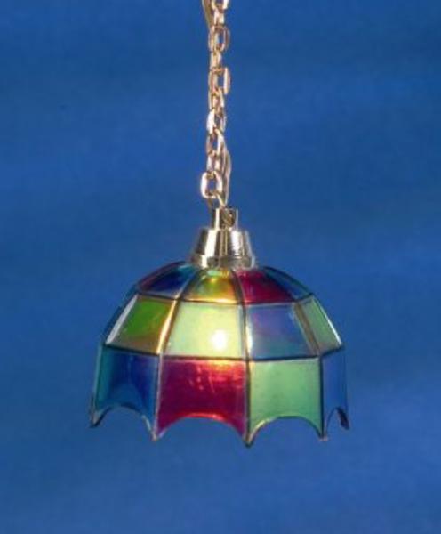 LAMPE SUSPENSION TYPE VITRAUX 12V