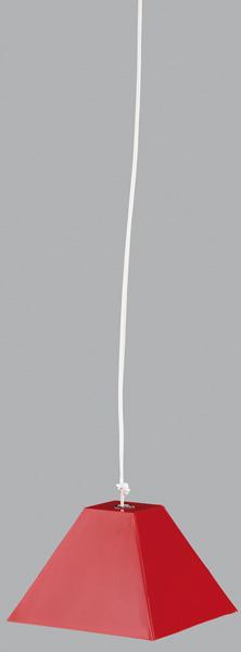 LAMPE 3 5V PLAFONNIER ROUGE