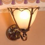 LAMPE «ART NOUVEAU» APPLIQUE 12V TYPE CUIVRE