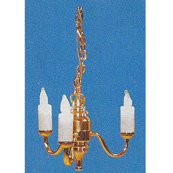 LAMPE LUSTRE DOREE 12V