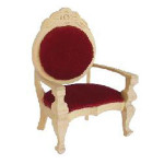FAUTEUIL TISSUS ROUGE