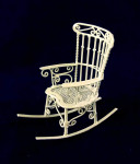 ROCKING-CHAIR METAL BLANC