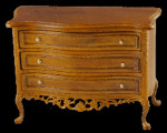 COMMODE LOUIS XV 3 TIROIRS MERISIER