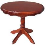 TABLE OVALE BOIS TON MERISIER