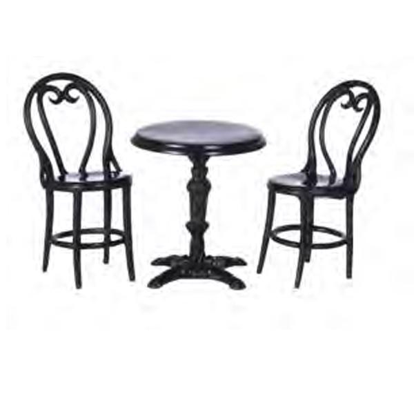 TABLE DE BISTROT PARISIEN AVEC 2 CHAISES