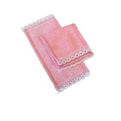 LOT DE 2 SERVIETTES (BLEU OU ROSE)