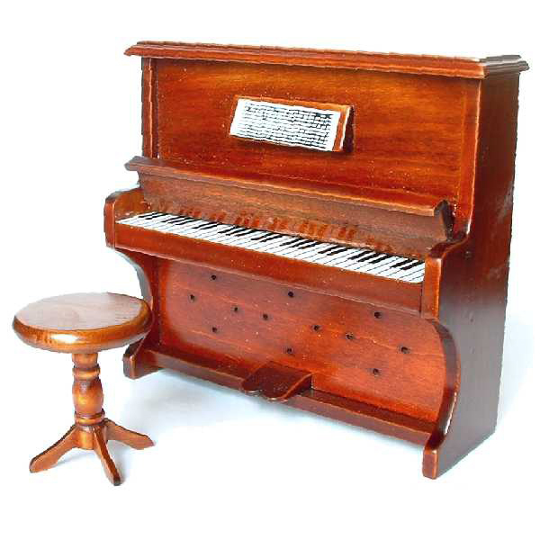 piano merisier avec tabouret. Black Bedroom Furniture Sets. Home Design Ideas