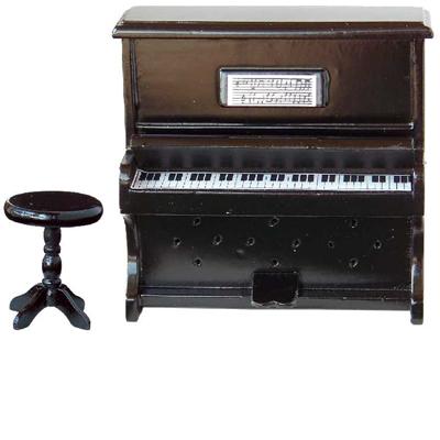 PIANO NOIR AVEC TABOURET