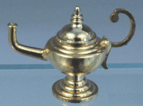 LAMPE A HUILE EN LAITON