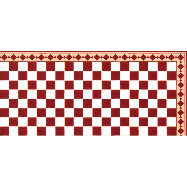 Papier peint carreaux blanc et rouge p12 for Papier peint carreaux