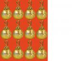 12 boules dorées de Noël