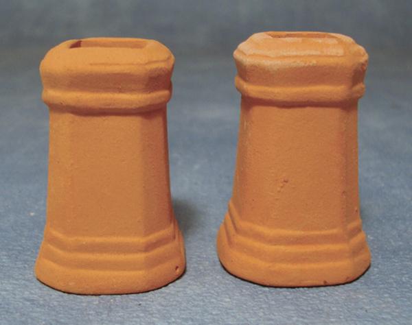 LOT DE 2 CHEMINEES DE TOIT (4,5cm)