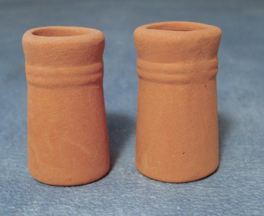 LOT DE 2 CHEMINEES DE TOIT (3cm)