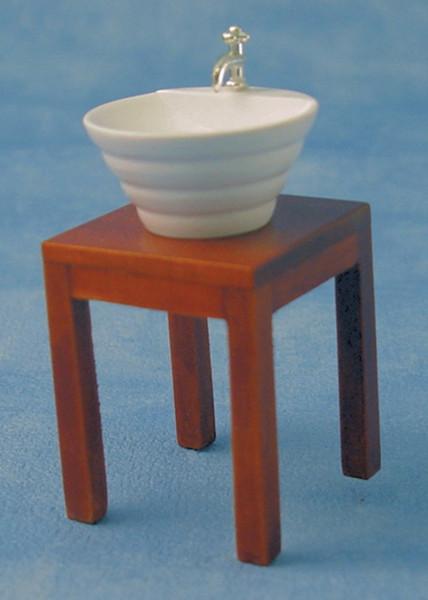 Lavabo blanc moderne avec meuble integre for Meuble lavabo avec pied
