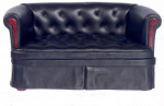 CANAPE TYPE CUIR CHESTERFIELD