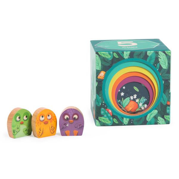 Cubes empilables «Dans la jungle»