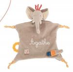 DOUDOU ATTACHE TETINE «LES PAPOUM» ELEPHANT