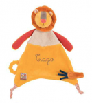 DOUDOU ATTACHE TETINE « LES PAPOUM » LION