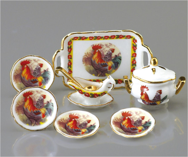 ENSEMBLE PORCELAINE COQ