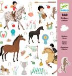 160 STICKERS - CHEVAUX