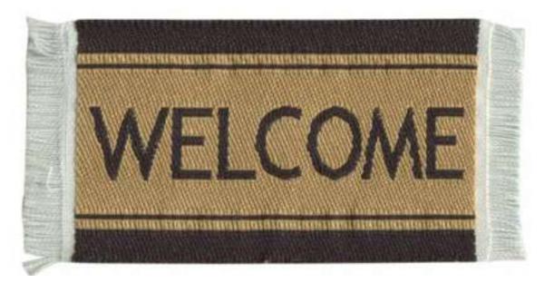 PETIT TAPIS «WELCOME»