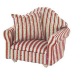 FAUTEUIL ou REPOSE PIED TISSUS RAYE