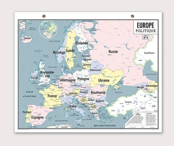 CARTE EUROPE POLITIQUE