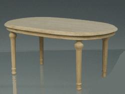 TABLE SALLE A MANGER OVALE BOIS NATUREL