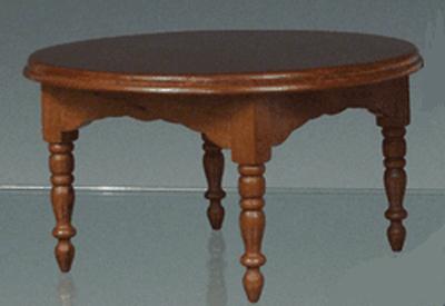TABLE OVALE MERISIER
