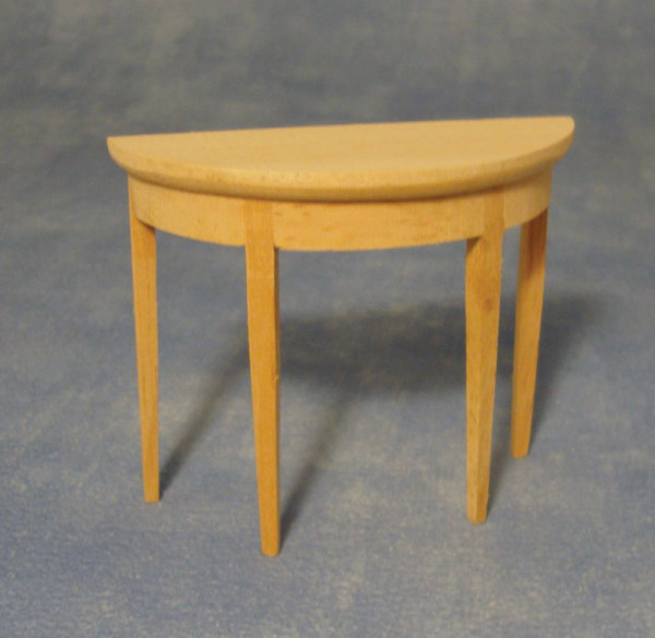 TABLE CONSOLE DEMI RONDE BOIS NATUREL