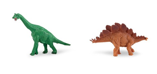 LOT DE 2 MINI-DINOSAURES
