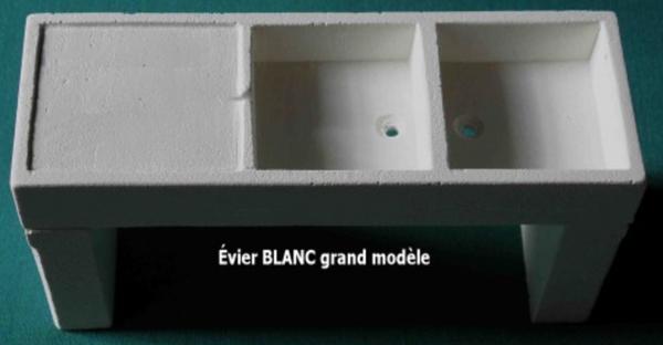 EVIER BLANC SIMPLE OU DOUBLE